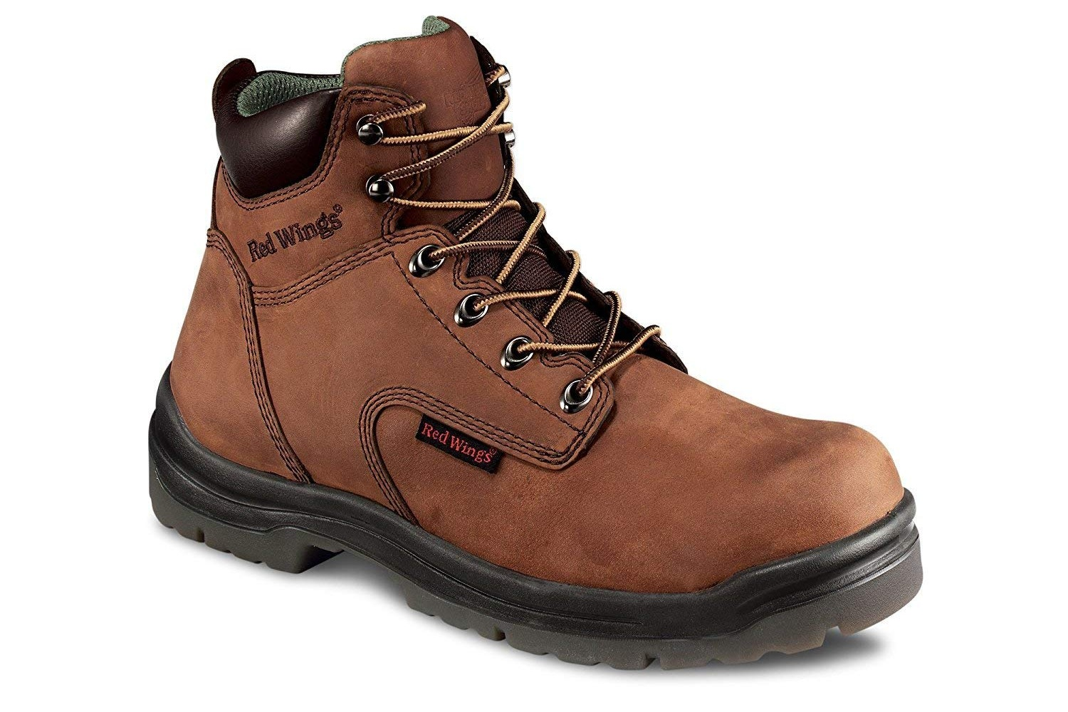 Red Wing - Red Wing work boots are perfect for every job. Several options are available. Boots can be ordered with/without the following: steel/composite toe, waterproof, insulated, electrical hazard, and puncture resistant. They are also available in different heights. These boots are comfortable and can be worn in the fields, the shop, or to walk around town.