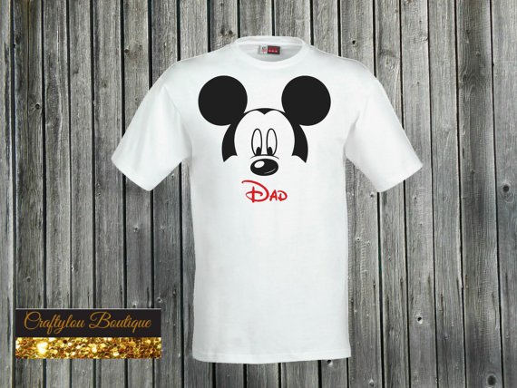 White Mickey Disney Dad Shirt