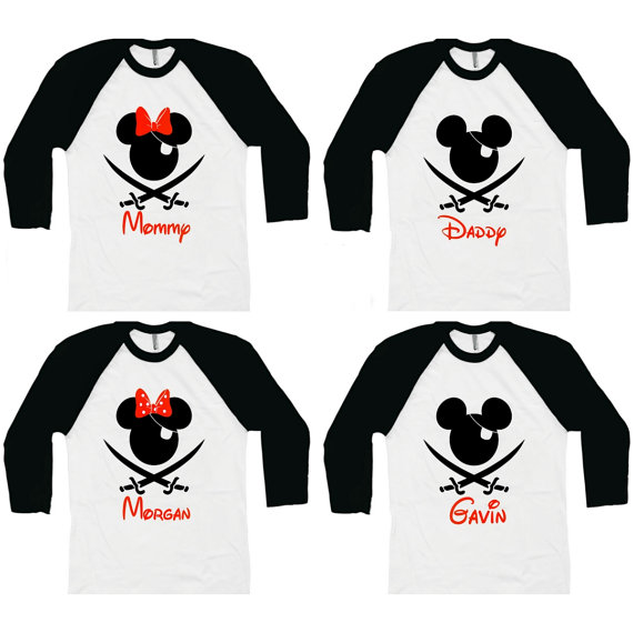 Disney Dad Baseball Tee Shirts