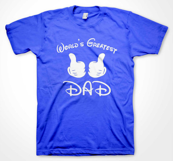 Worlds Greatest Dad Blue Disney Shirt