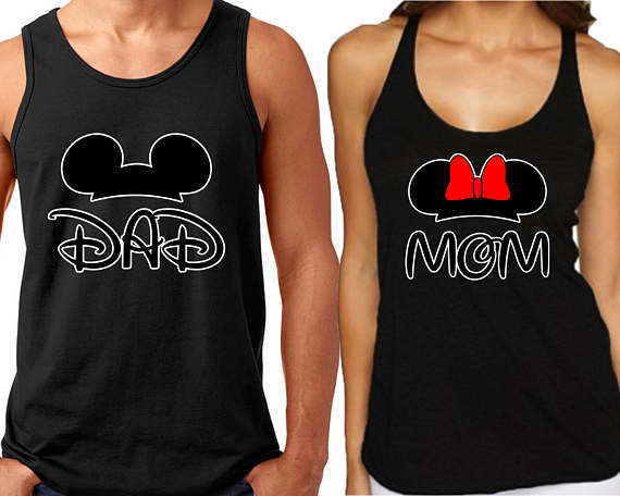 Disney Mom and Dad Tank Tops