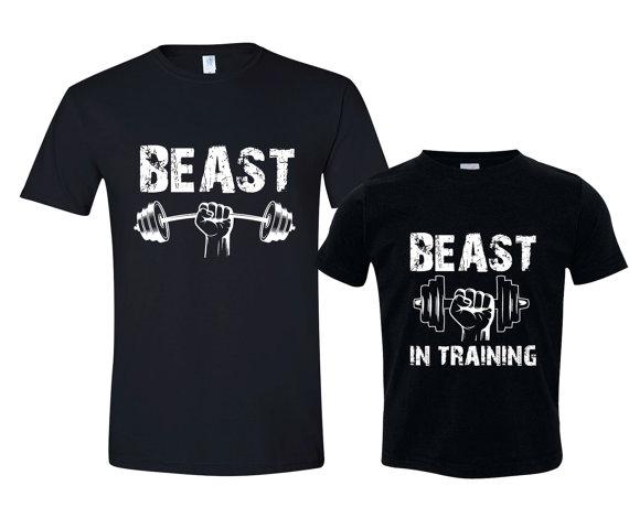 Dad + Baby Shirts - Beast Beast in Training
