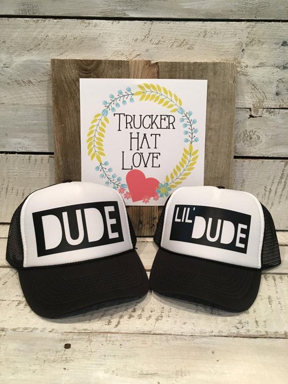Dad + Baby Trucker Hats - Big Dude Little Dude
