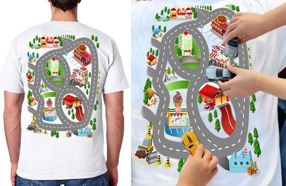 Dad Shirts - Dad Race Track Shirt
