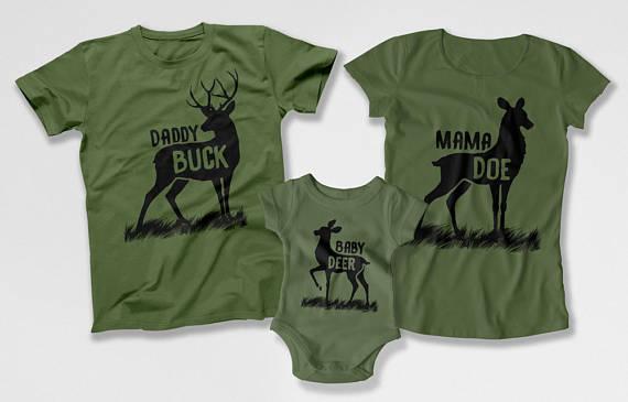 Family Buck Shirts - Daddy Buck Baby Doe