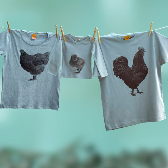 Dad Mom and baby Shirts - Hen and Chicken Family Shirts