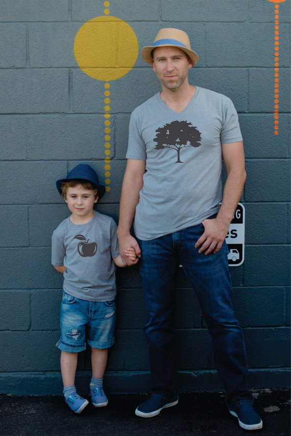Father Son Shirts - Apple + Tree