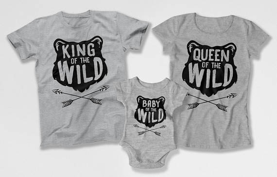 Family Matching Shirts - King Queen Baby Cub