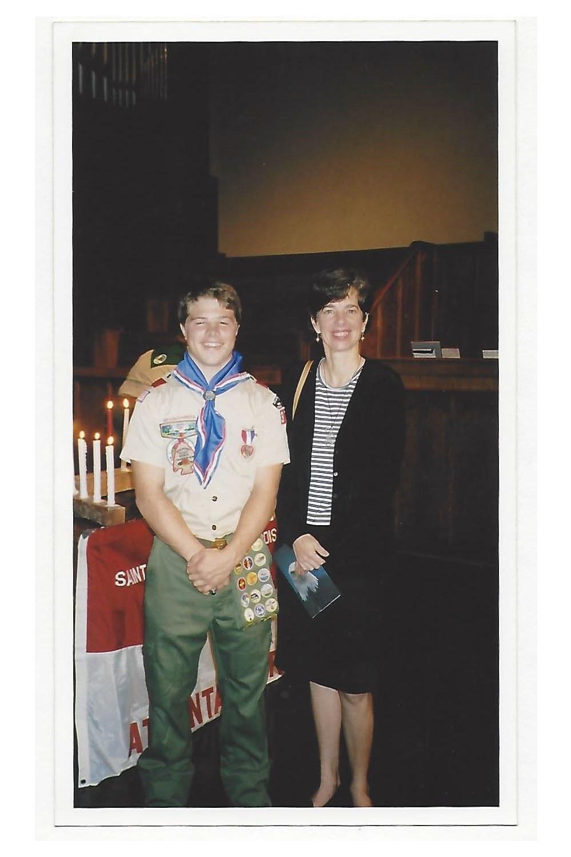 Harrison Williams with Blue Heron Founder, Nancy Jones.