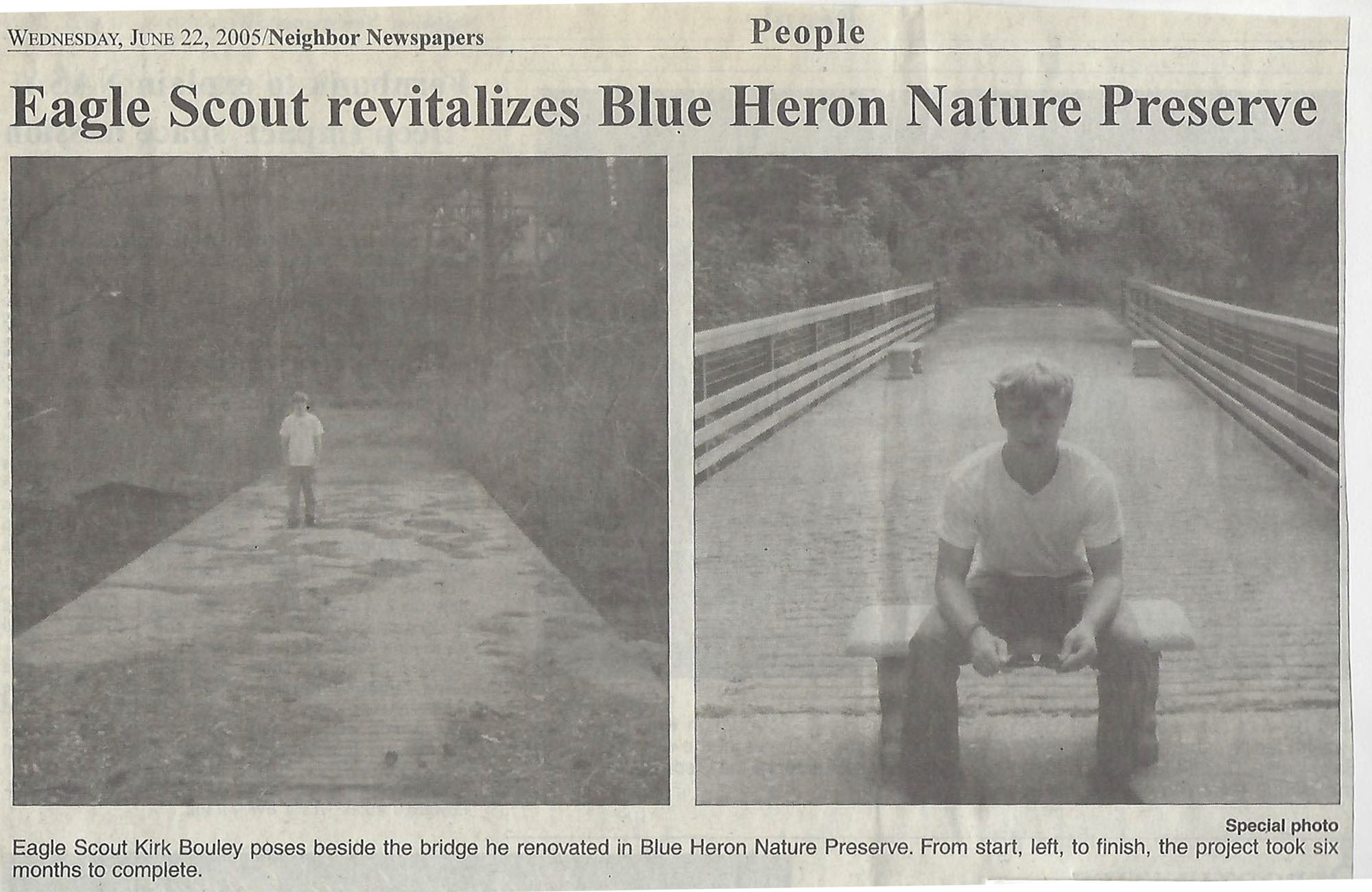 Kirk Bouley's before/after bridge improvements at Emma Wetlands.