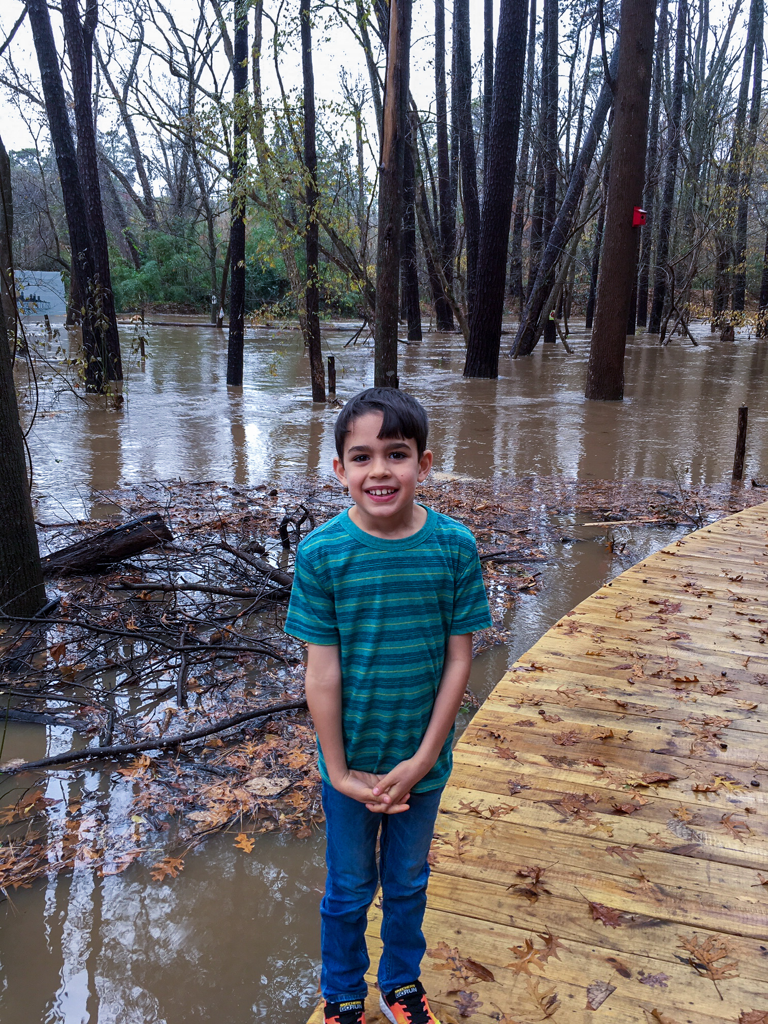 The Woodland Loop is a flood plain for Nancy Creek.