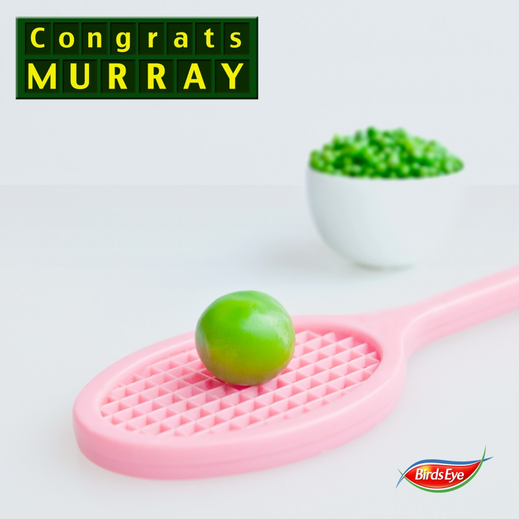 Birds Eye: Any Murray promotion    Role: (Photography/Design)