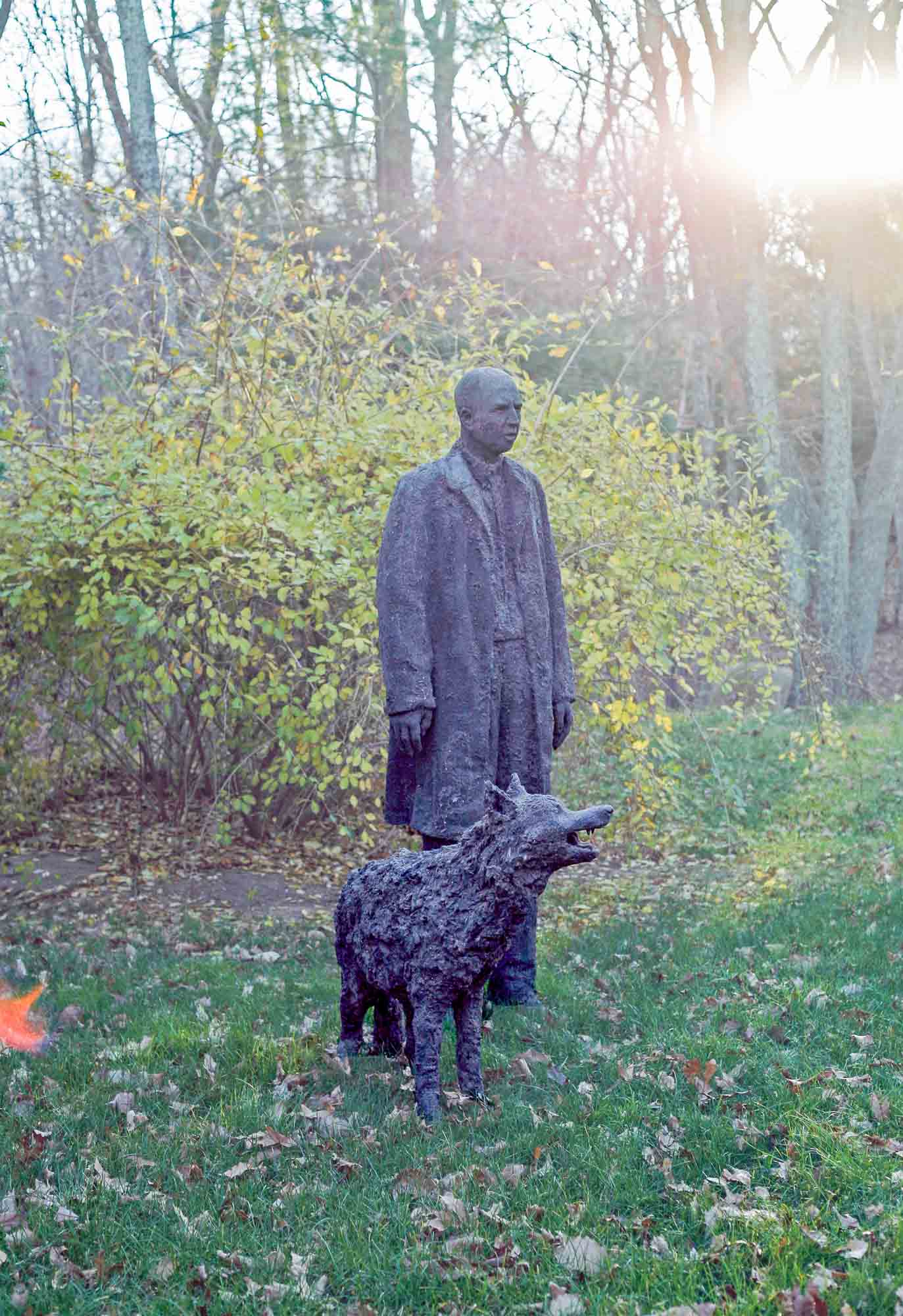 Dirt Man with Wolf, 2010.
