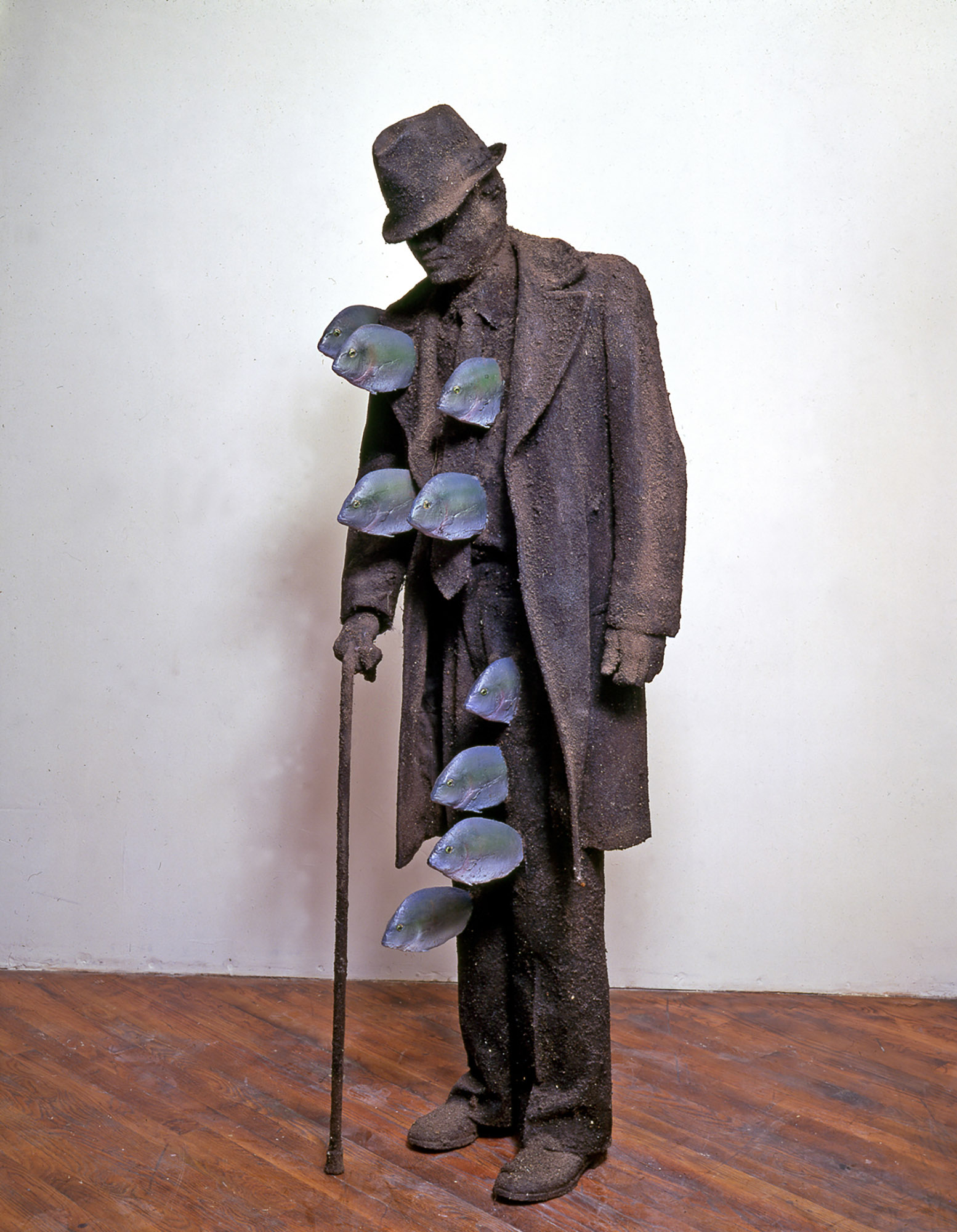 Dirt Man with Fish, 1986