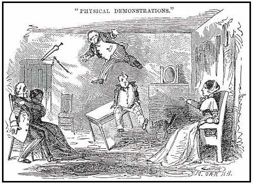 A nineteenth century representation of spectacular events in the Koons family's spirit room