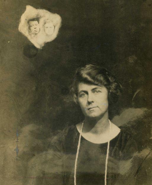 "A ""spirit photograph"" with Mina Crandon, a.k.a Margery"