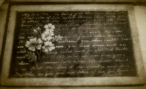 """A slate on which the """"spirits"""" would mysteriously cause writing to appear"""