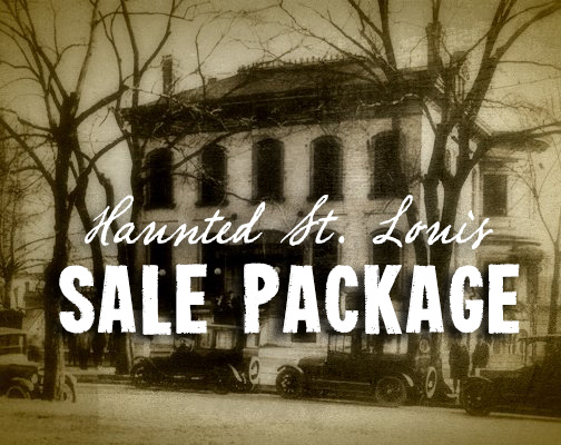 """GET ALL THREE BOOKS FOR A DISCOUNT PRICE!  Get all three of Troy Taylor's """"Haunted St. Louis"""" books for just  $40"""