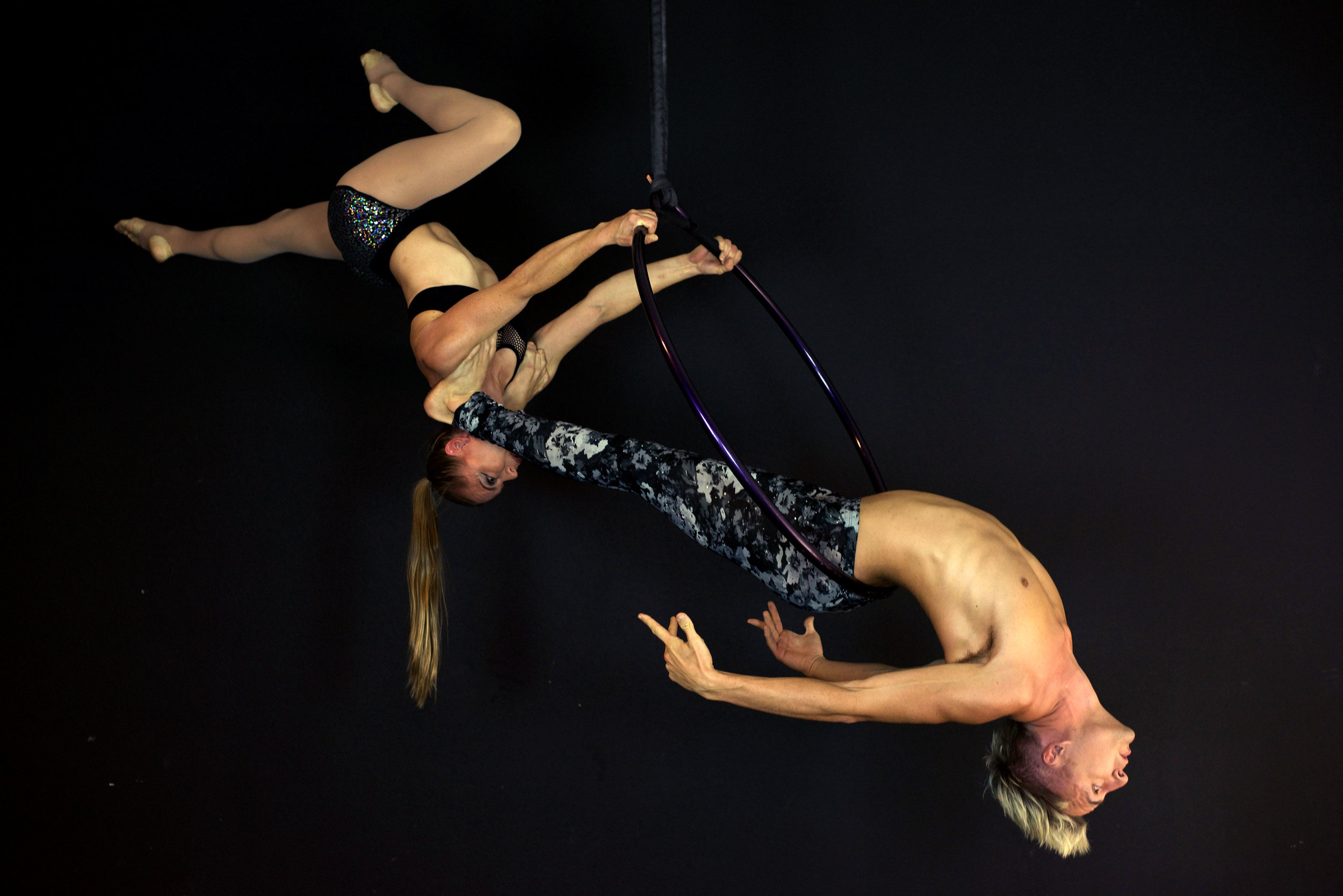 Nic and Holly Duo Aerial Hoop pose