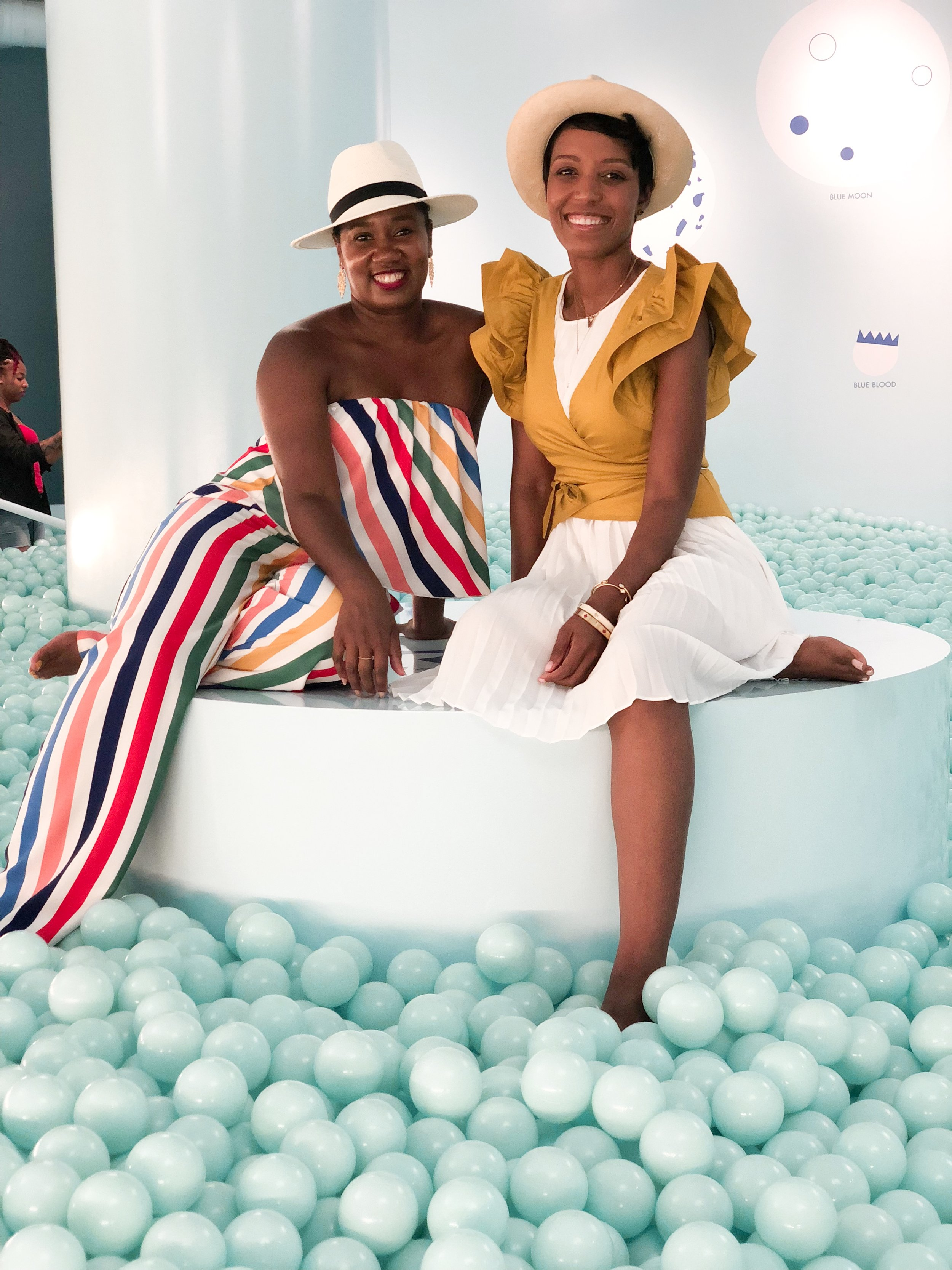 The Color Factory: Ball Pit.   @mikaela.pabon  Jumpsuit from  Vici Collection  and  @simplyshannah
