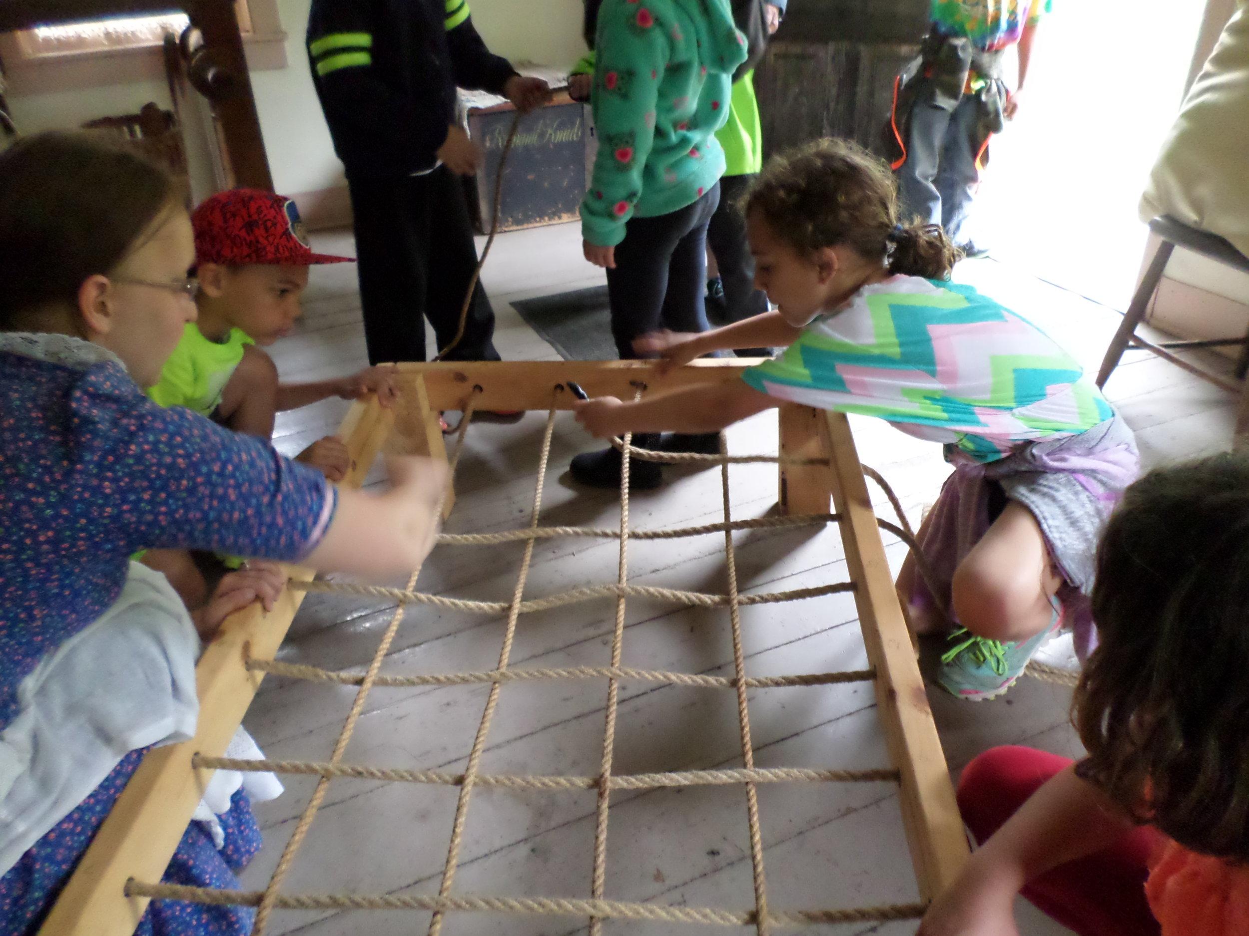 Pioneer Sampler: Making a rope bed