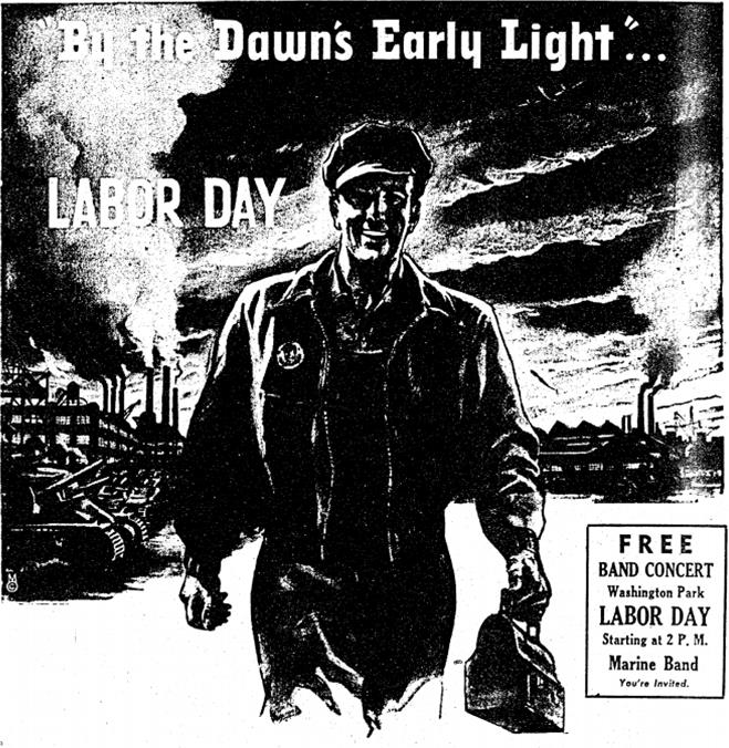An ad from the Central Labor Council printed in the  Manitowoc Herald-Times on September 5, 1942.