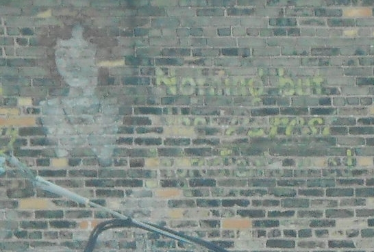 Ghost sign from the former Pennys store on 8th and Franklin Streets in Manitowoc.