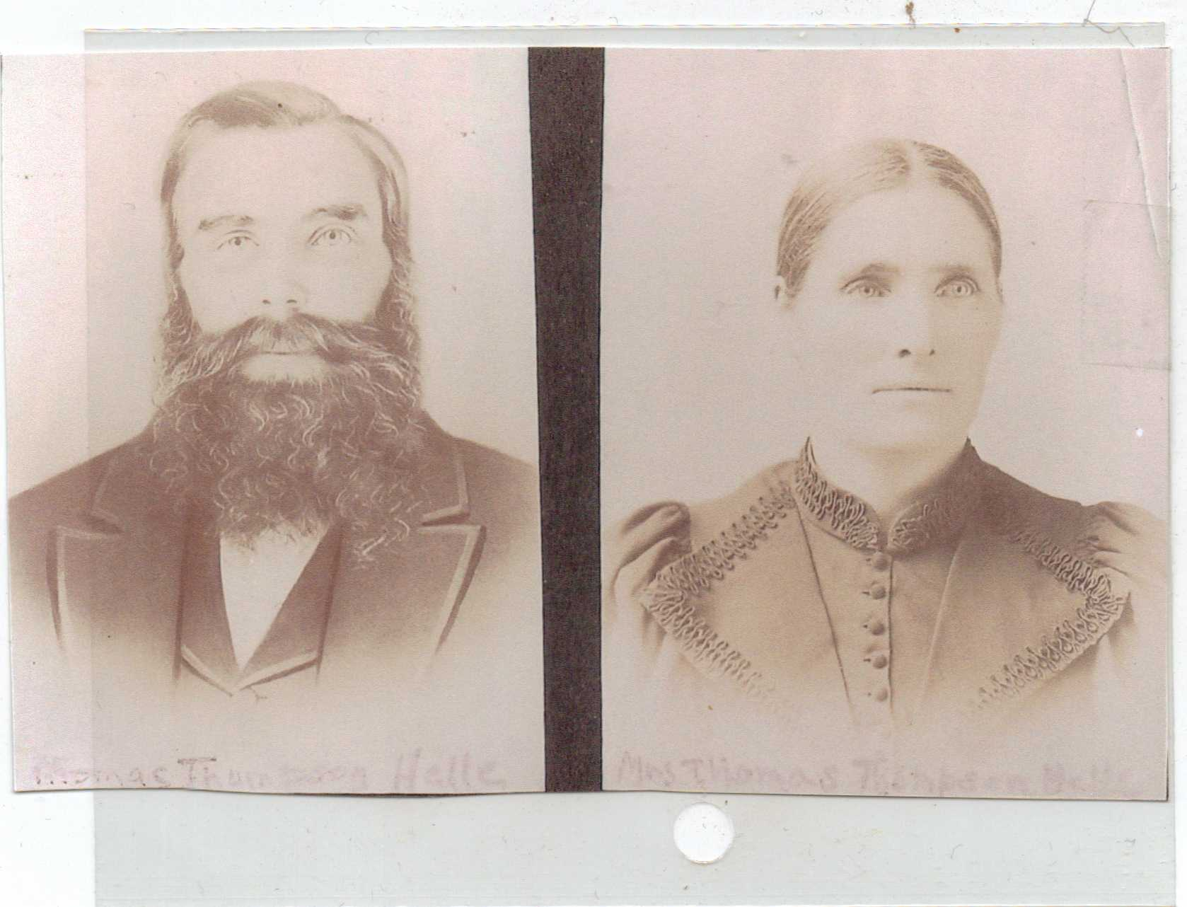 Thomas Olson Helle and Kari Evensen Helle were the first inhabitants of the Helle-Thompson Cabin.