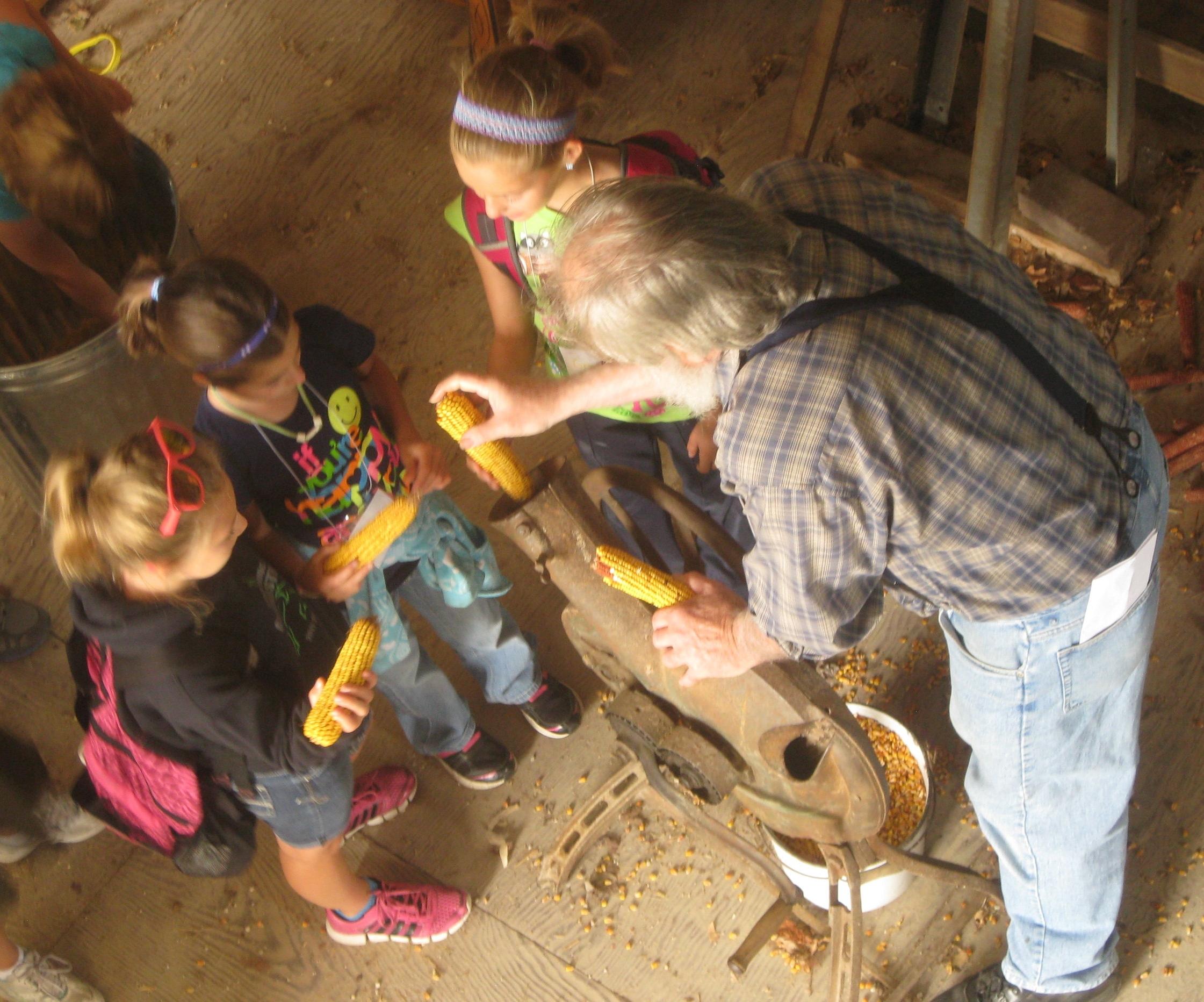 Life on the Farm: Shelling corn