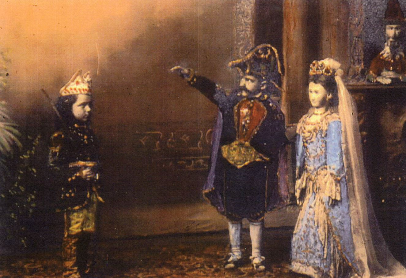 Weinkoetz puppet marionette show in St. Nazianz about 1900