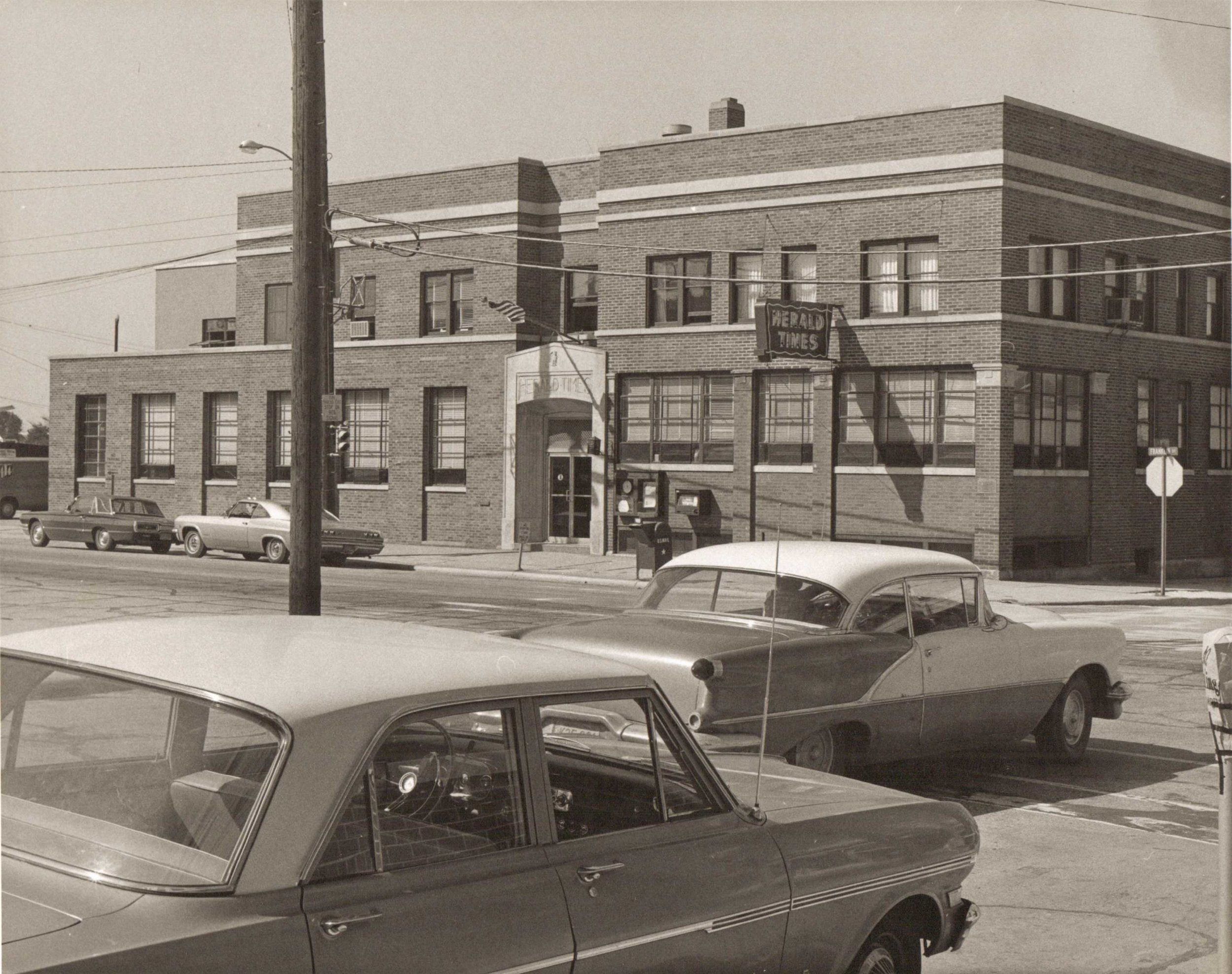 Herald Times office, located at 902 Franklin Street in Manitowoc, in 1968.
