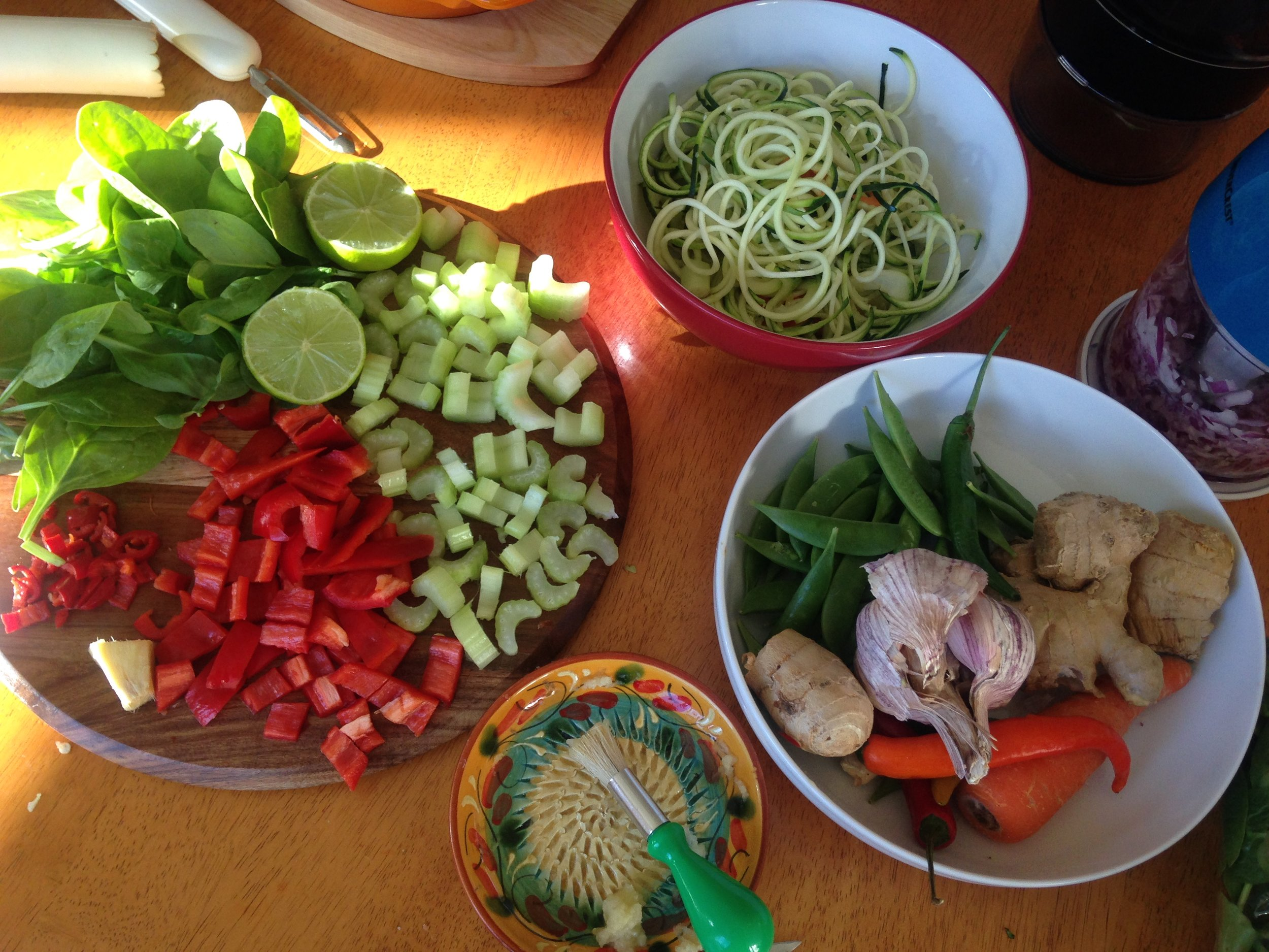 All the ingredients prepared prior to cooking.