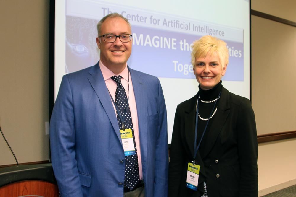 IBM Watson Health ' s John Daley and director of Xavier Health, Marla Phillips