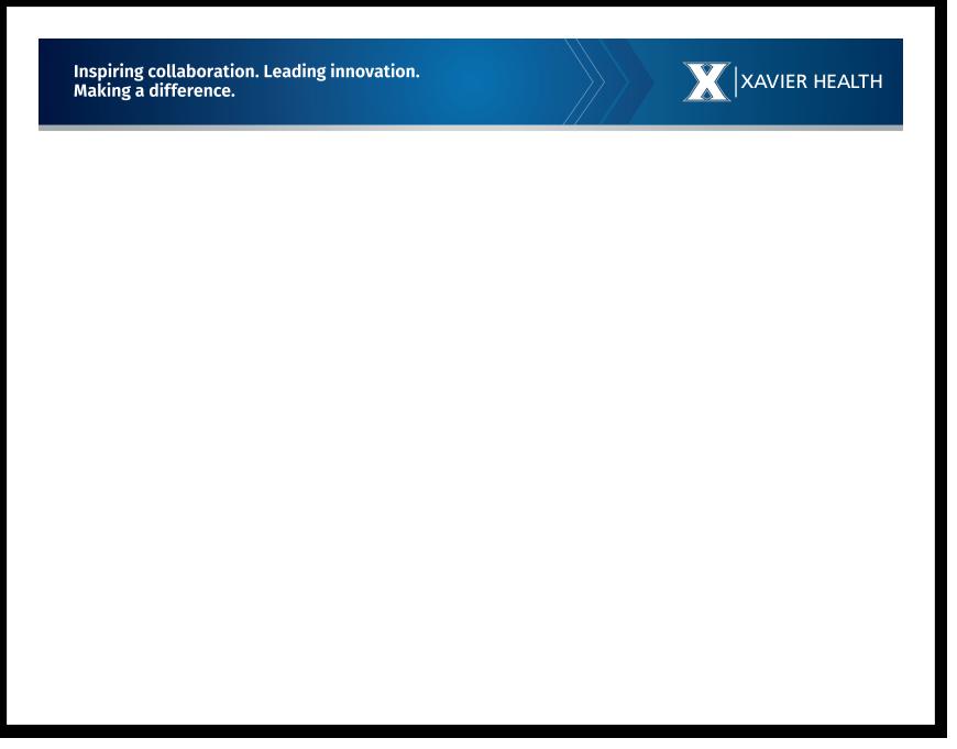 Xavier Health Horizontal Word Template