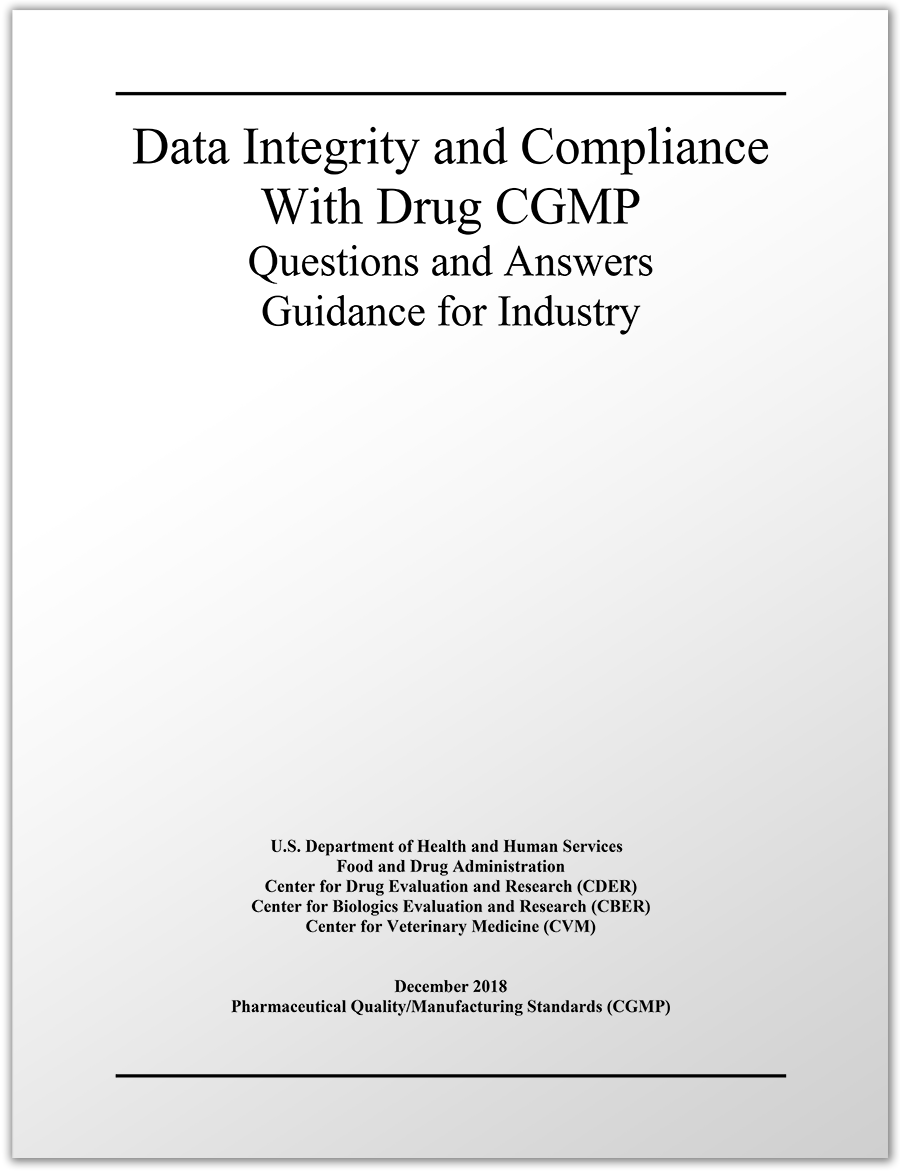Download the newly-released FDA Data Integrity Guidance