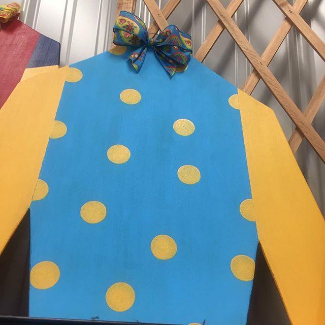 Cute little jockey silks just in time for the derby! #parisky #farmersmarket #derby