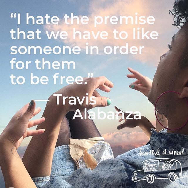 """I hate the premise that we have to like someone in order for them to be free."" — Travis Alabanza .⁣ .⁣⠀ .⁣⠀ .⁣⠀ Our ride with Travis is live now ❤️ link in bio to listen .⁣⠀ .⁣⠀ .⁣⠀ .⁣⠀ #handfulofwheel #frontseat #mixtape #interview #travisalabanza #burgerz #bestmixtapeever #brooklyn #bk #nyc #newyorkcity #talkingtoartists #talktoartists #chitchat #ontheroad #followyourpassion #creativelife #adviceforcreatives #fineart #inthecar #nyc #bk #brooklyn"