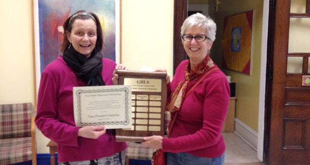 The recipient for 2014 is Tina Prosser-Cameron.