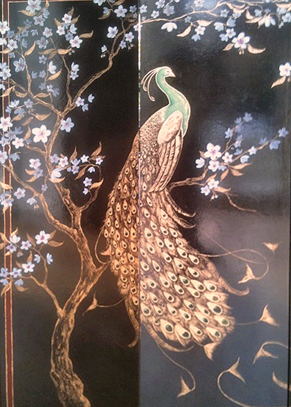Frederick Wimsett - murals and artistic design - Peacock Screen Detail 1.jpg