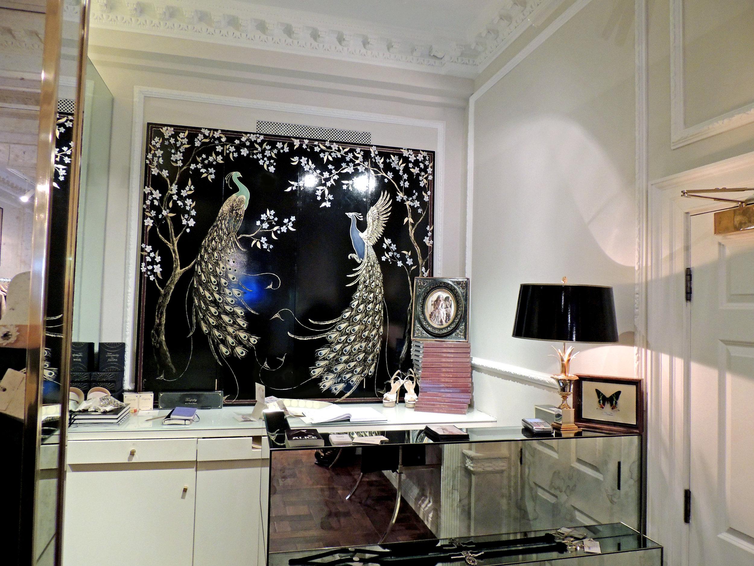 Frederick Wimsett - murals and artistic design - GOLDEN PEACOCK Deco Peacocks.jpg