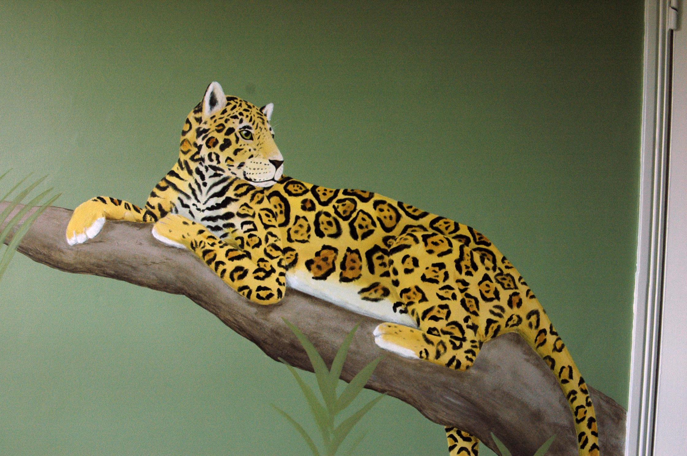 Murals -wall art - frederick wimsett - Rainforest Jaguar.jpg