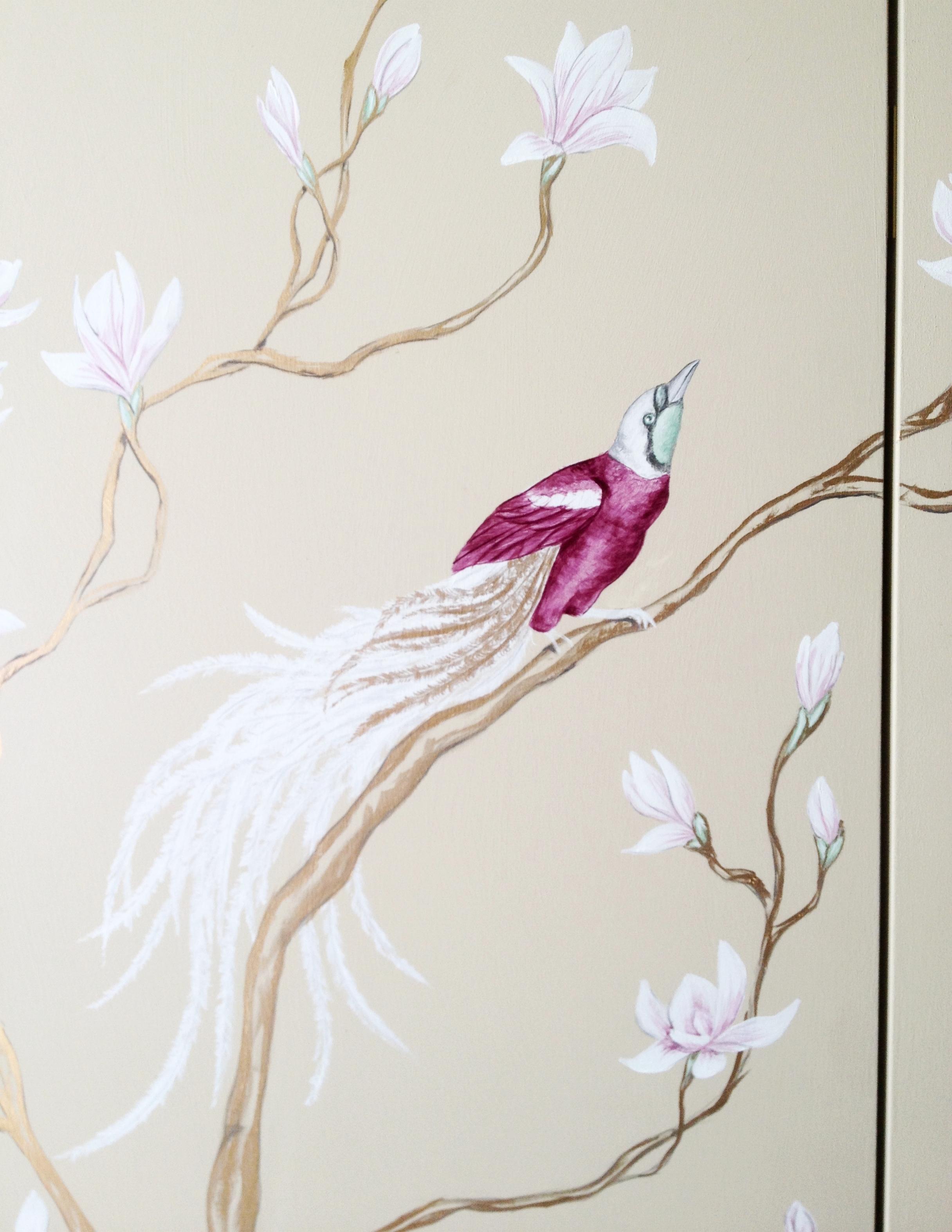 Magnolia and Bird of Paradise Screen  Frederick Wimsett - murals and artistic design detail 3.JPG
