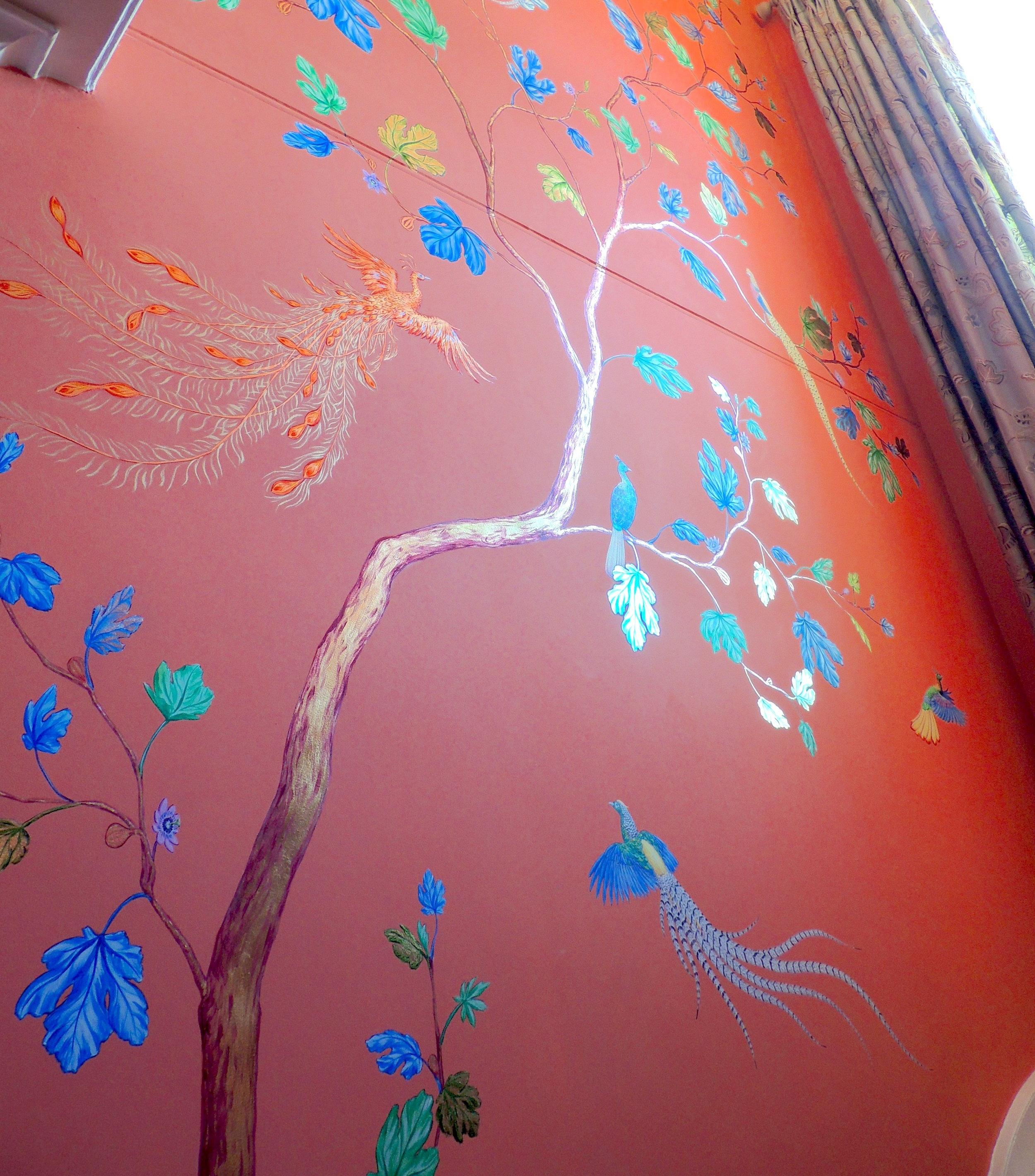 Wall mural for Cozmo Jenks,  Frederick Wimsett, bespoke wall art