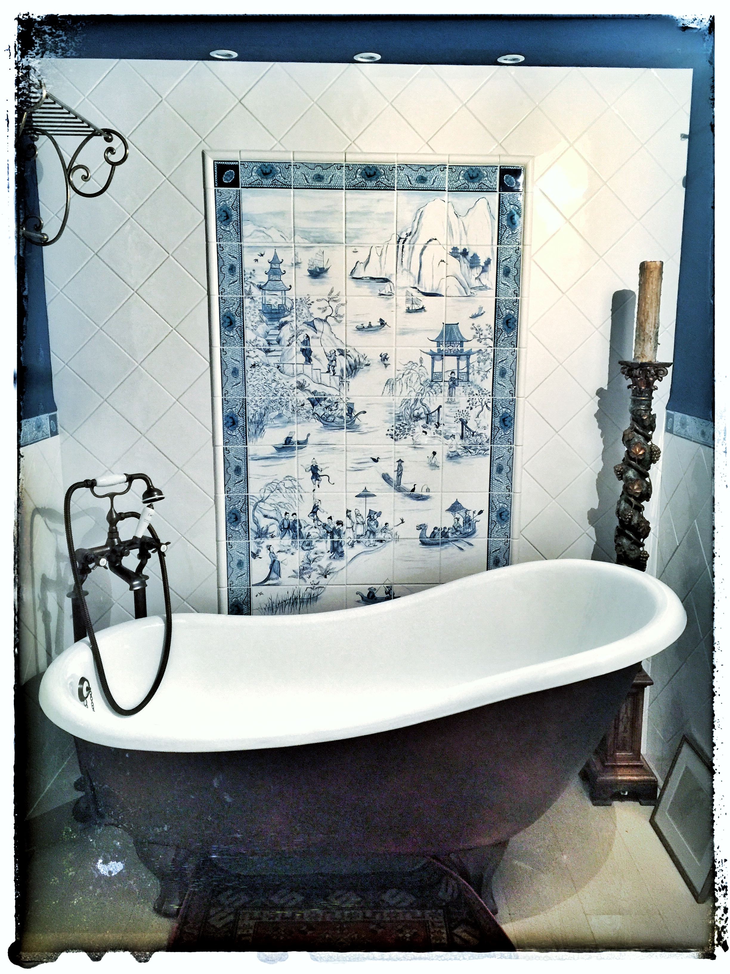 COURTESAN CHINOISERIE TILES - Frederick Wimsett - murals and artistic design - other projects