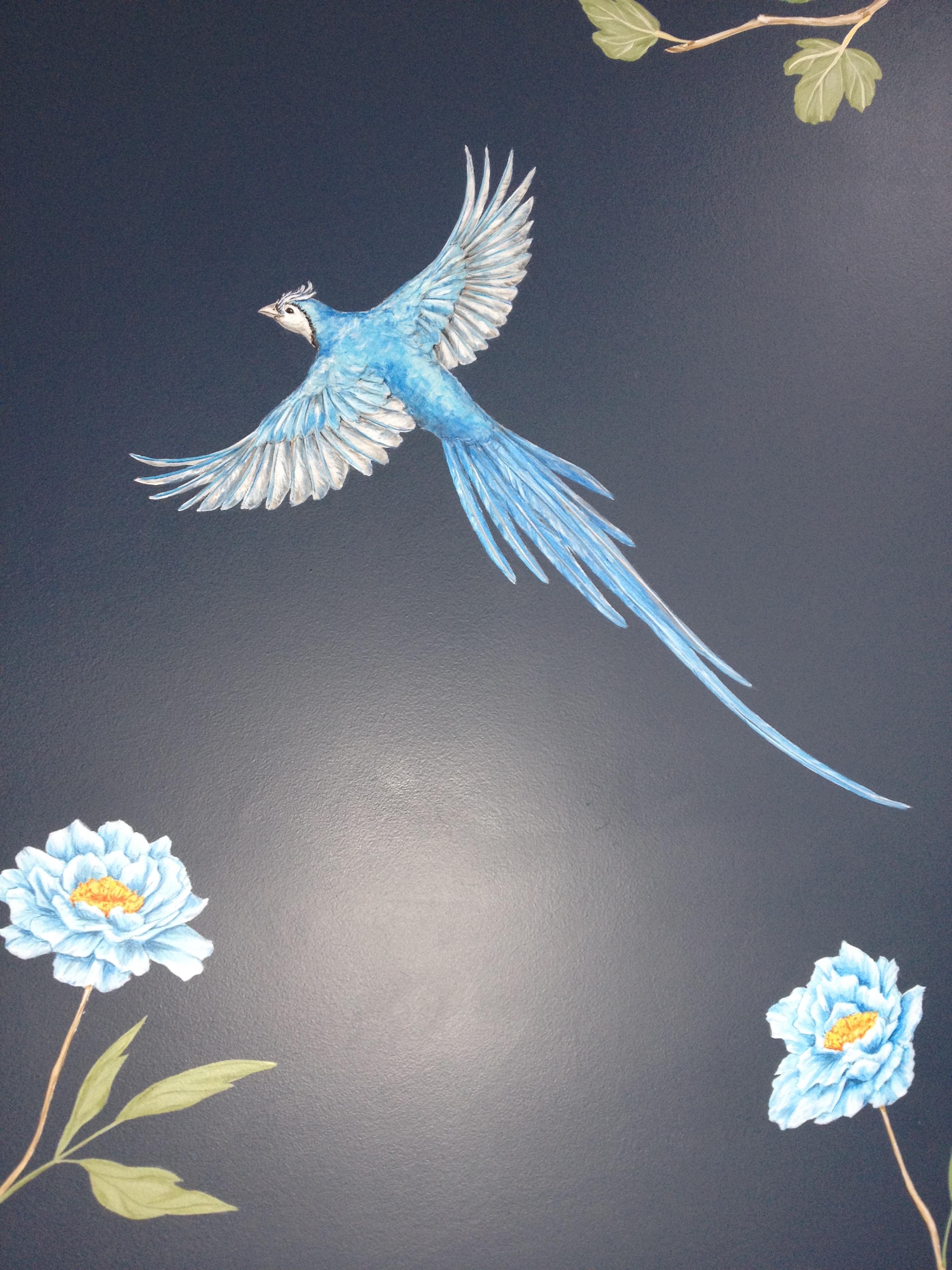 fig and jay bathroom mural DETAIL 2, frederick Wimsett bespoke wall art.JPG