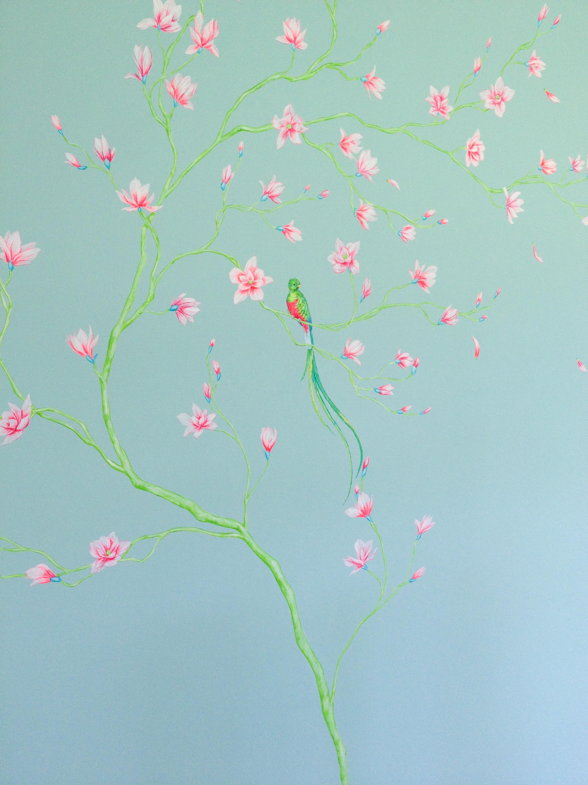 cozmo JENKS milliner- bedroom mural - detail 1 -Frederick Wimsett - murals and artistic design - WALLS .JPG