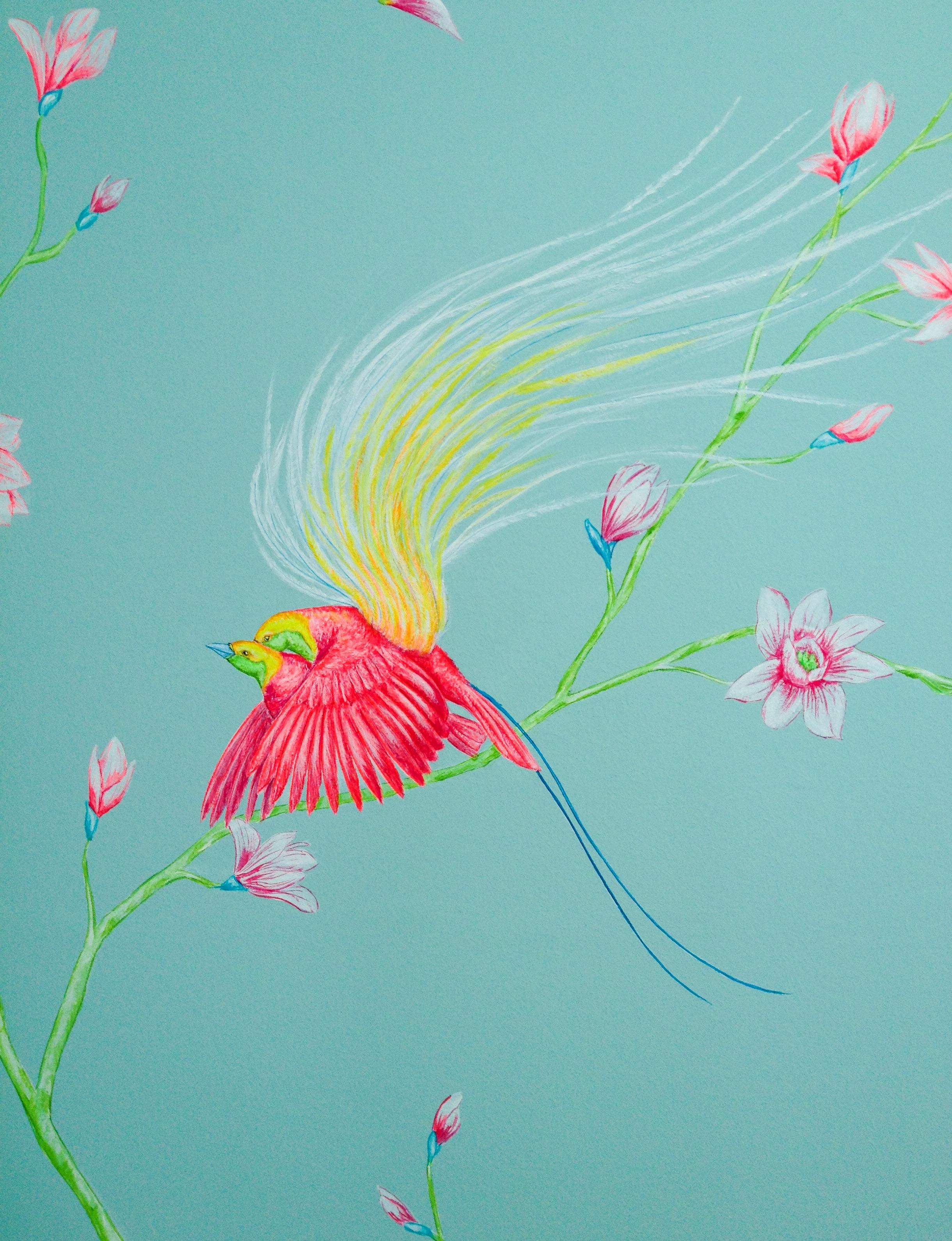 cozmo JENKS milliner- bedroom mural - detail 4 -Frederick Wimsett - murals and artistic design - WALLS .JPG