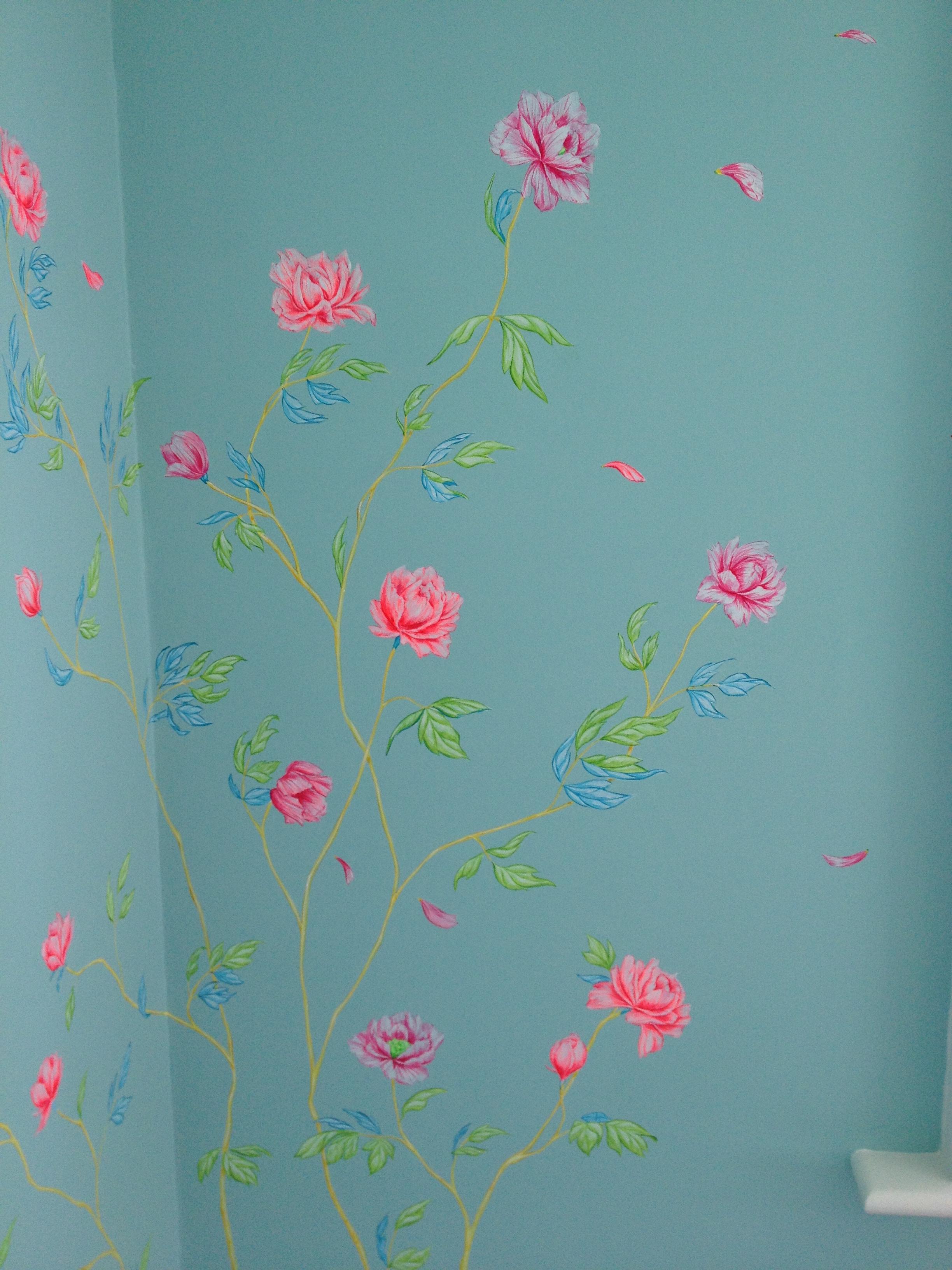 cozmo JENKS milliner- bedroom mural - detail 3 -Frederick Wimsett - murals and artistic design - WALLS .JPG