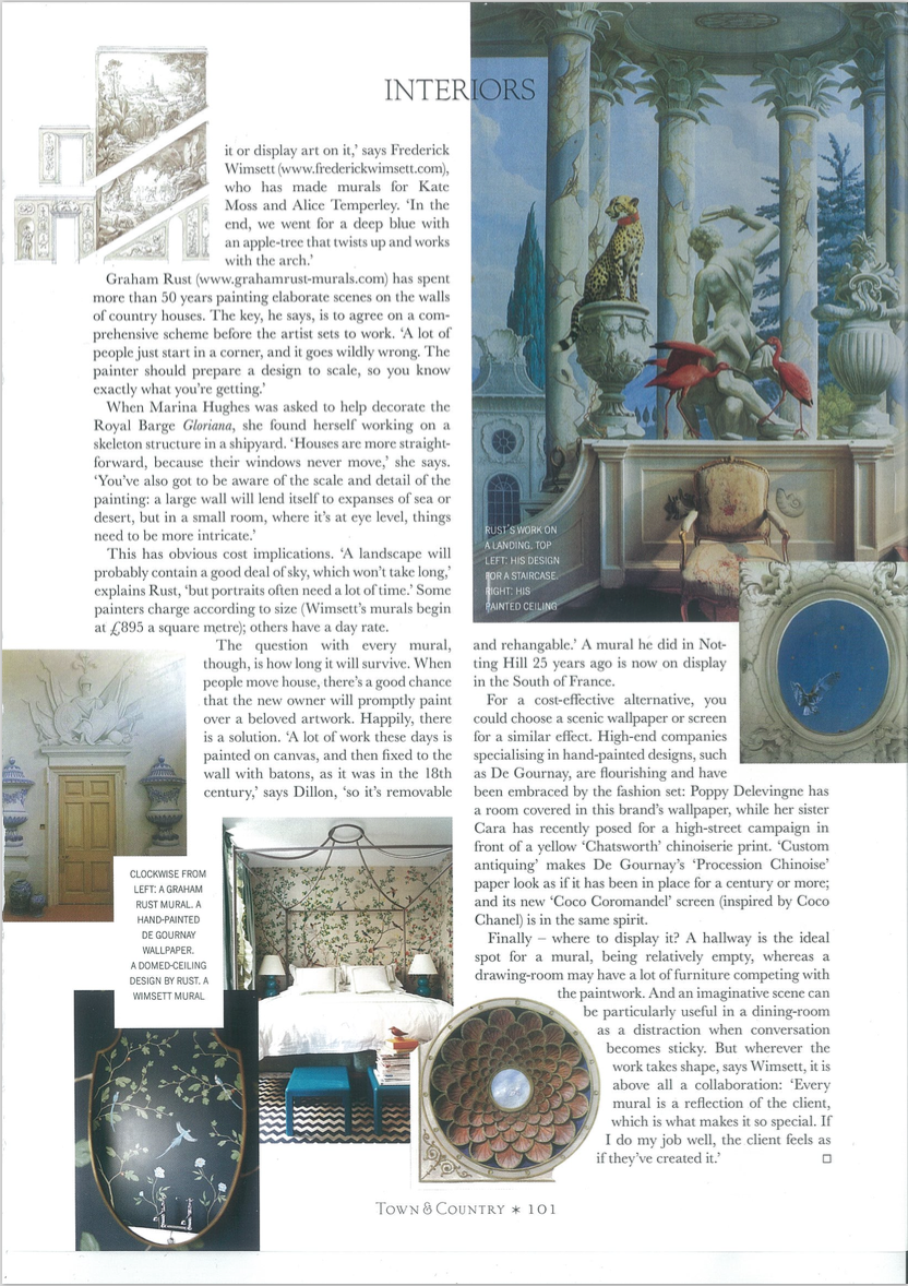 frederick wimsett - press - town and country - murals and artistic design p1