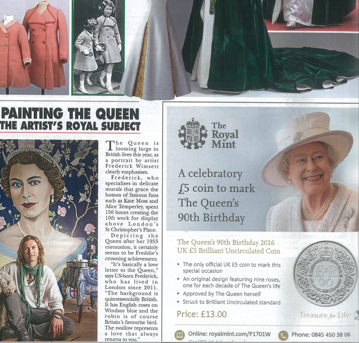 Hello! Magazine - frederick wimsett- press - feature - the queen - murals artistic design p1